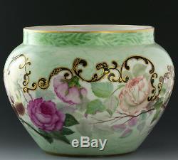 Limoges Antiquites Peintes À La Main Roses Jardiniere Ferner Vase En Date De 1897