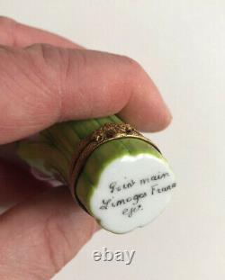 Limoges Beautiful Hand Painted Tulip Trinket Box With Ladybug (france)