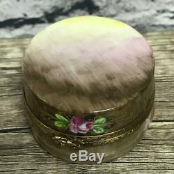 Limoges France Peint Principal Rochard Peint À La Main Boîte Chapeau Avec Hat Trinket Open Box