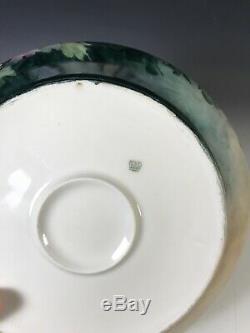 Limoges France Squat Vase Peint À La Main