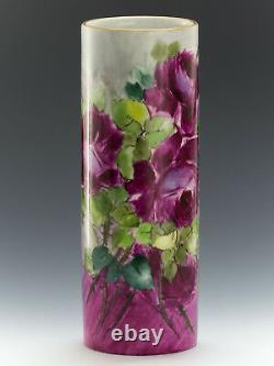 Limoges France Vase Aux Roses Peintes À La Main