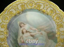 Limoges Handpainted Nude Ondines Repos Raised Gold Gild Plate For Tiffany & Co