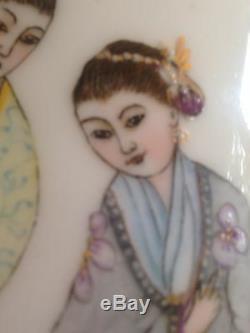 Limoges Haviland Vase Pichet Chinoiserie À La Main Mint