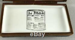 Limoges Imports Coffret Bibelots Paris Porte-journaux Peint À La Main Signé 557