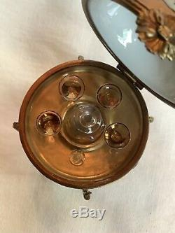 Limoges Peinte À La Main 4 Bar Porcelaine Globe Box Marque Déposée Voir Détails