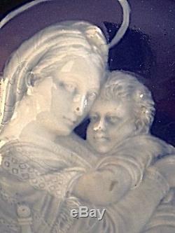 Limoges Peinte À La Main Pate Sur Pate Plaque Française Porcelaine De Madonna Le Président