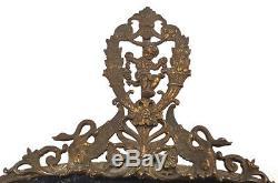 Limoges Peinte À La Main Plateau Porcelaine Bronze Mounted Gargouilles & Childs 54 CM 21¼