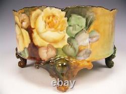 Limoges Roses Peintes À La Main Vase Ferner