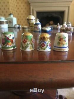 Limoges Roses & Rubans Peinte À La Main Et Signée Thimble