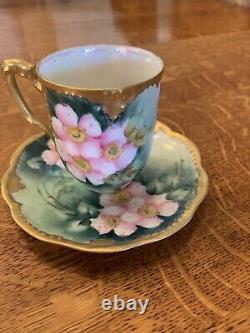 Limoges Tea Set Peint À La Main Par M. Emekinle