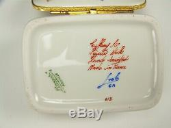 Limoges Tiffany & Co Le Tallec Painted Private Stock Main Papillon Insectes Box