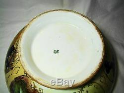 Limoges Tresseman & Porcelaine Peinte À La Main Vogt Signed Punch Bowl 1892-1907