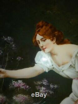 Limogeswm. Plaque Guild Or Guerinhandpainted 15,5 Ou Mur Beauty Hanginga