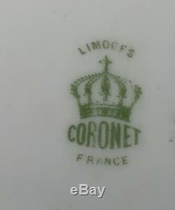 Lot De 6 Antique Limoges France Decores Jeu Plaques Sgn. Norys