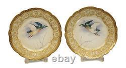 Magnifique Limoges Avenir Pour Tiffany & Co Plaques D'armoires En Porcelaine Peintes À La Main