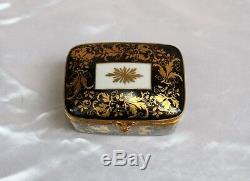 Magnifique Tiffany & Co Porcelaine Peinte À La Main, Bronze Plaqué Or Et Laiton