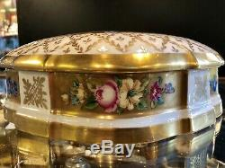 Painted Antique Porcelaine Main Gilt Limoges Dresser Box Trinket