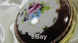 Paire D'appliques En Porcelaine Peinte À La Main, France