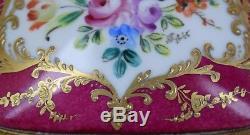 Peint À La Main Vintage Français Le Tallec Paris Cercueil À Charnière Boîte À Bijoux En Porcelaine