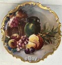 Peint Flambeau Or Limoges Main Illustrateurs 13 Charger Plate