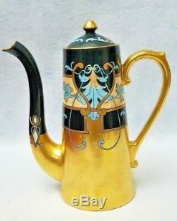 Pickard China Limoges Pot À Café 1903 Peint À La Main 4 Tasses Hessler Modern