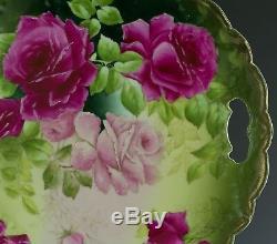 Plaque Bavière Gâteau Peint À La Main Roses