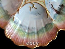 Plaque D'huître Antique Peinte À La Main Ultra Charmant