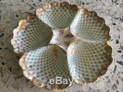 Plate Oyster Peinte À La Main Limoges Antique