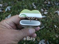 Porcelaine De Limoges Boîte Coeur Muguet Signée À La Main Numéroté Painted