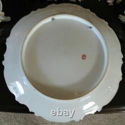 Porcelaine Limoges Peinte À La Main 13 1/4 Dubois Chargeur