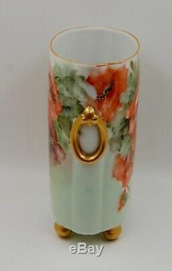 Pot De Vase Cache Cache Antique Coquelicots De Limoges