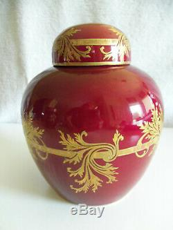 Pot Vintage Le Tallec Paris En Porcelaine De Gingembre Peintée À La Main