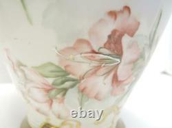 Rare Antique 11 1/4 Grand D & C France Limoges Peinte À La Main Vase Jour Lis