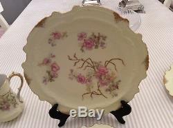 Rare Antiquité Service À Thé En Porcelaine Peinte À La Main Latrille Frères Limoges C1899