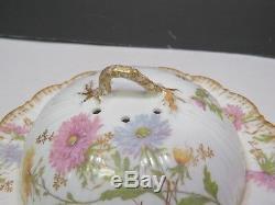 Rare Plat À Conserves De Fromage Couvert En Porcelaine De France France, M. Redon