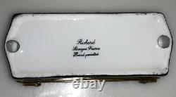 Rochard Limoges France Cheval Peint À La Main Et Dressage Équestre Agricole Rare Box