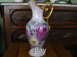 Roses Vase Peint À La Main Tankard 14