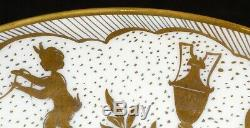 Service De Limoges Pour 10 Mettant En Vedette Le Tallec Plaques Horoscope Peint À La Main, Doré