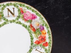 Set 11 Antique Limoges France Plaques Monogrammées Florales N 8.5 Peindre À La Main Wow