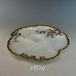 Set 6 Antique Haviland Limoges Oyster Plaques 19 C Peint À La Main. Un De Plus