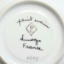 Set Of Seven (7) Limoges France Peint À La Main DC Demitasse Cups & Soucoupes