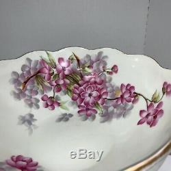 T & V Main Limoges Vintage Bol Peint Avec Poignées