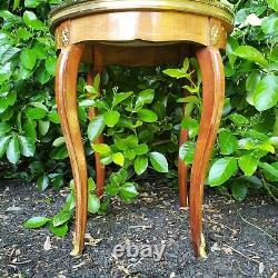 Table Montée En Bronze Avec Porcelaine Florale Peinte À La Main Haut Limoges France 22