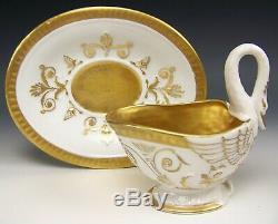 Tasse À Café Avec Soucoupe Et Thé Peints À La Main Antique De Limoges France