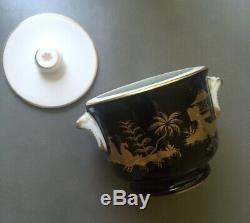 Tiffany & Co Le Tallec Stock Privé Chinoise Main Nuit Pot Avec Couvercle Peint