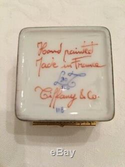 Trèfle À Quatre Feuilles Peintes À La Main Boîte Le Tallec Pour Tiffany & Co