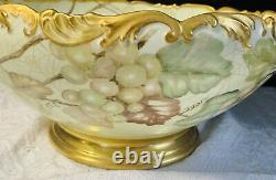 Tv Limoges Peint À La Main Art Nouveau Gold Scalopé Coup De Poing Crowe & Spider Web