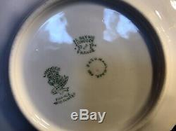 Un Ensemble De 6 Antique Porcelaine De Limoges Dessert / Gâteau Plate / Peinte À La Main, Signed1909