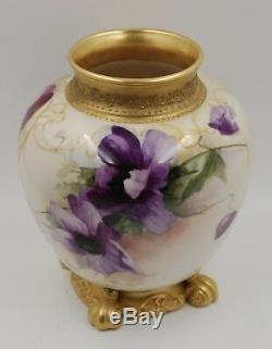 Vase Ancien Jardiniere En Porcelaine Et Porcelaine Peinte A La Main
