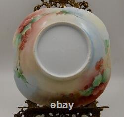 Vase Antique De Pièce Maîtresse Peinte À La Main De Limoges